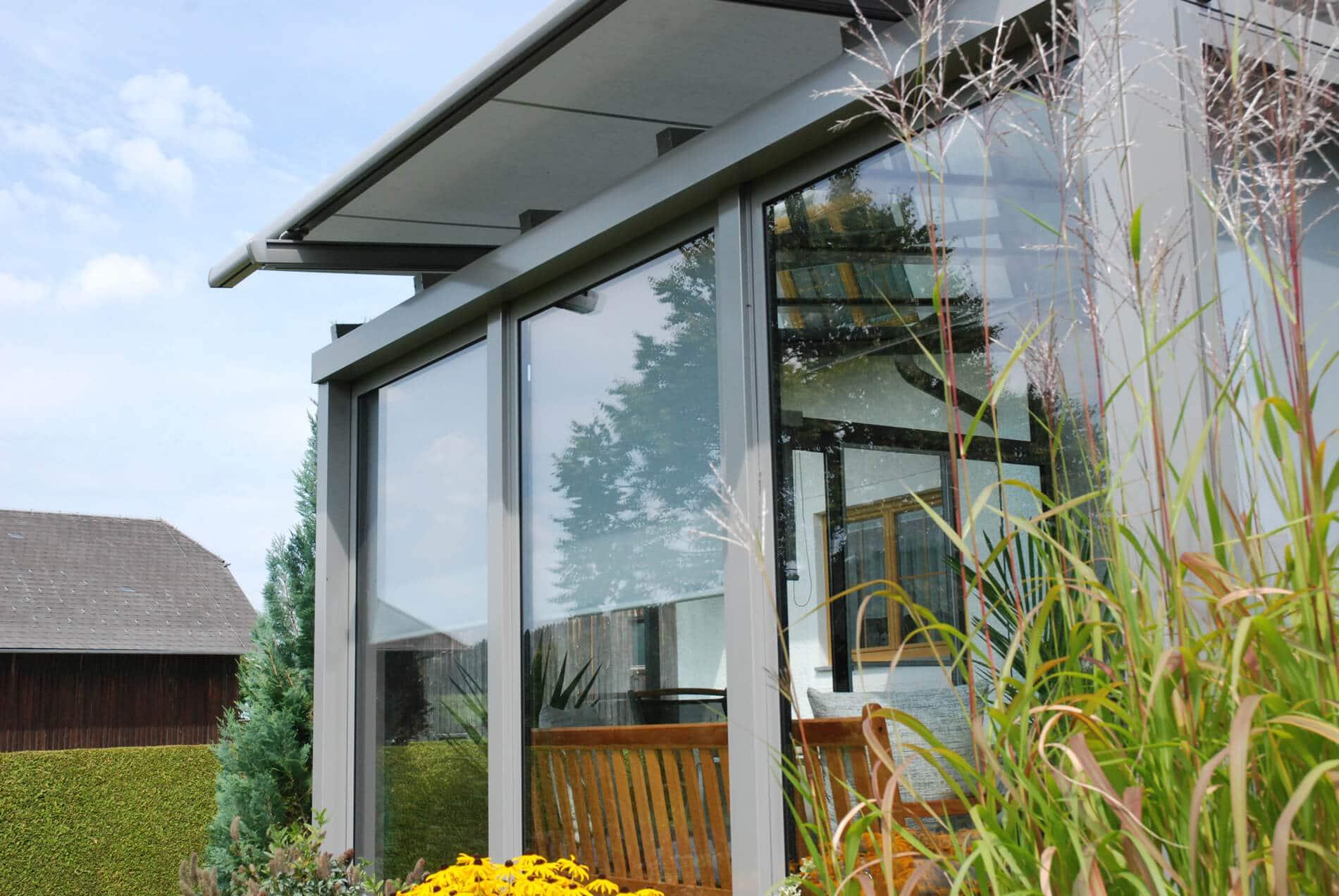 Unbeheizter Wintergarten Aluminium Glas