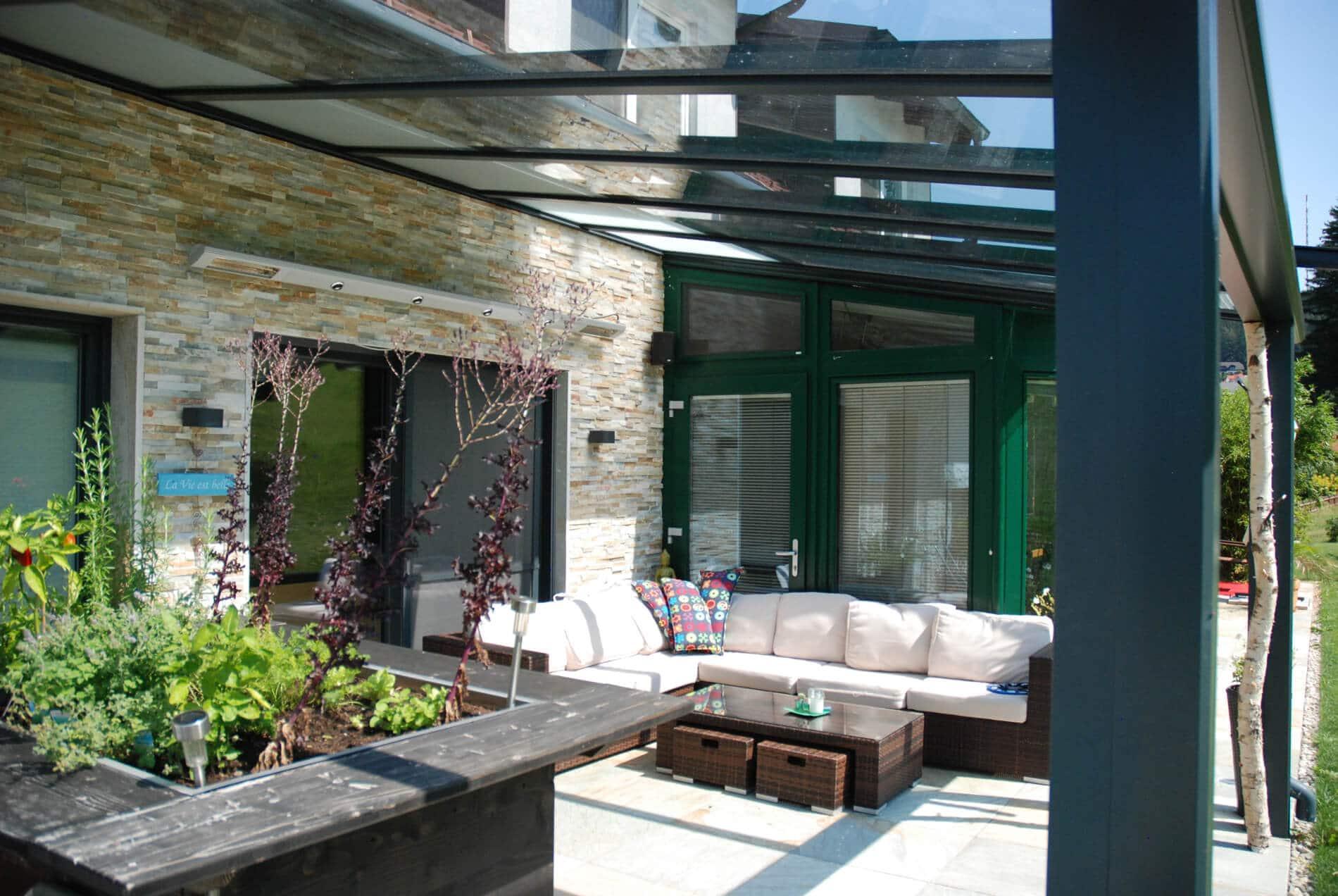 VSG-Glasdächer für Terrasse