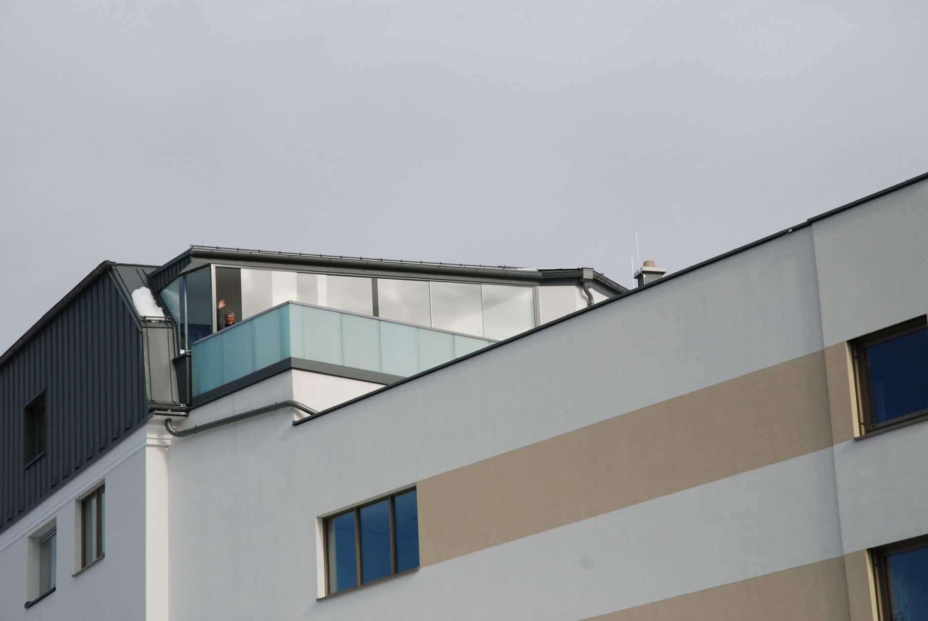 Wetterschutz auf Dachterrasse aus Glas