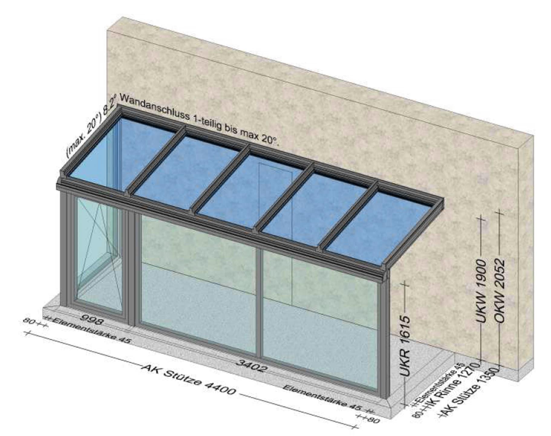 Wind- und Regenschutz für Eingangsbereich - Planung