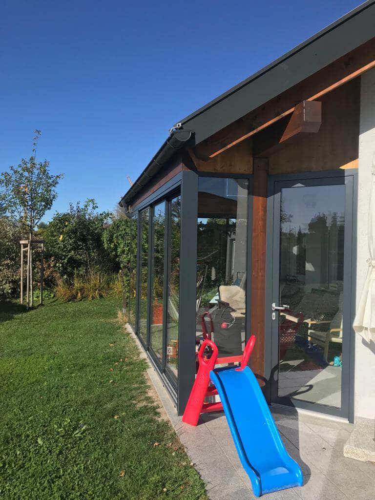 Windschutz für Terrasse Schiebesysteme