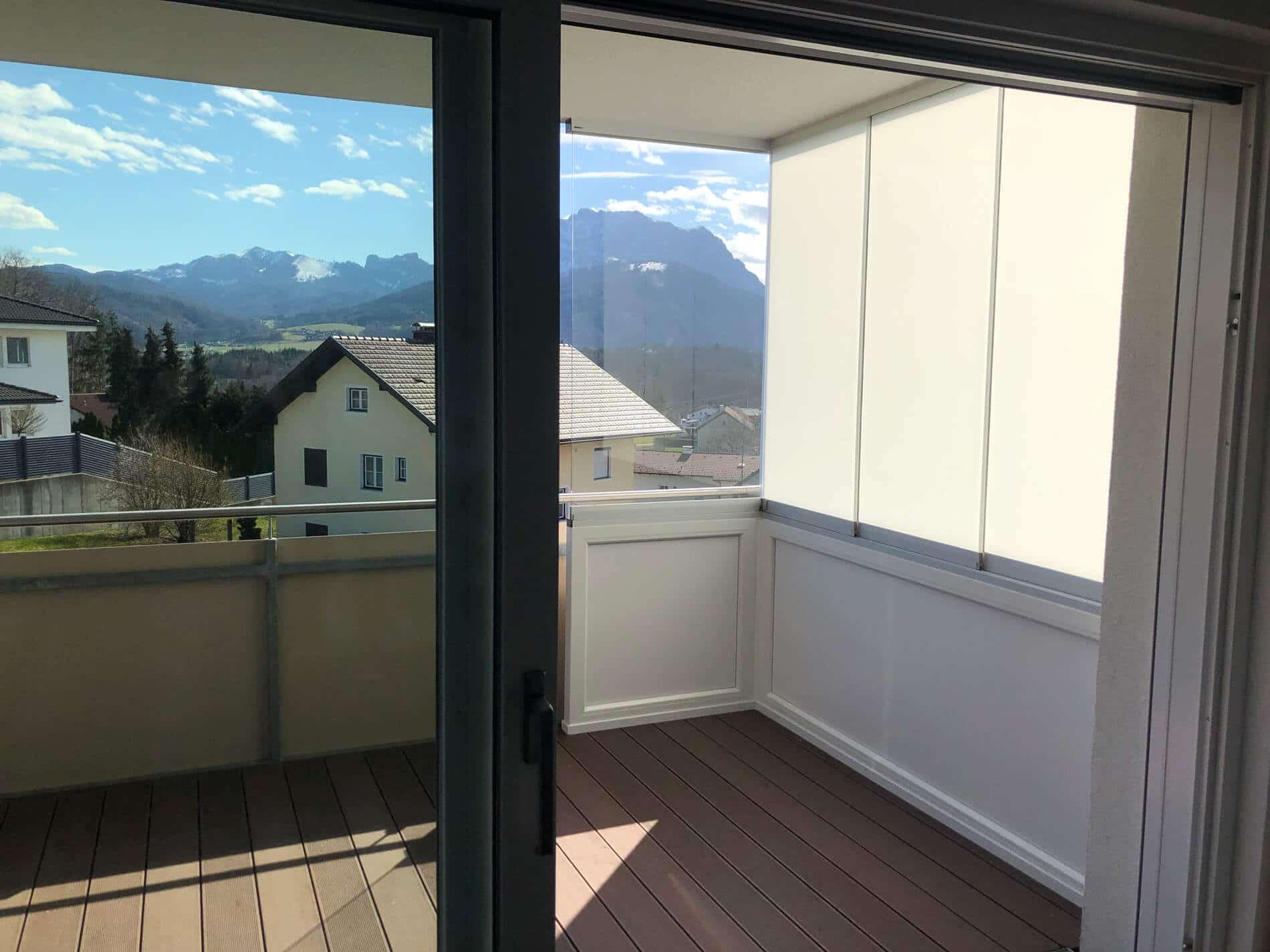 Windschutz und Sichtschutz für Balkone