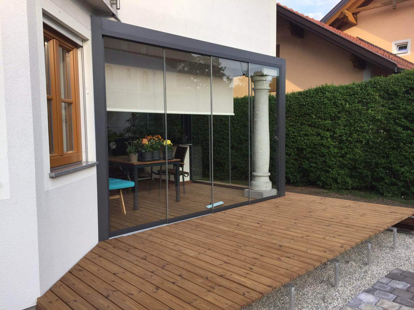 Wintergärten Alu-Glas auf Terrasse in Oberösterreich