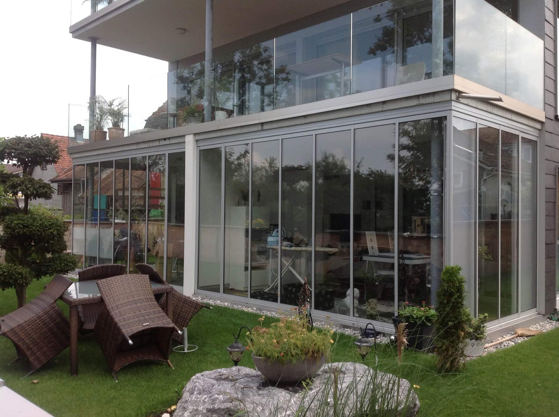Wintergärten Glas Faltwände