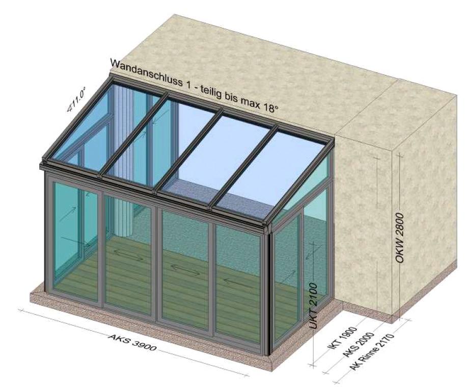 Wintergarten 3,9 x 2 Meter - Planung