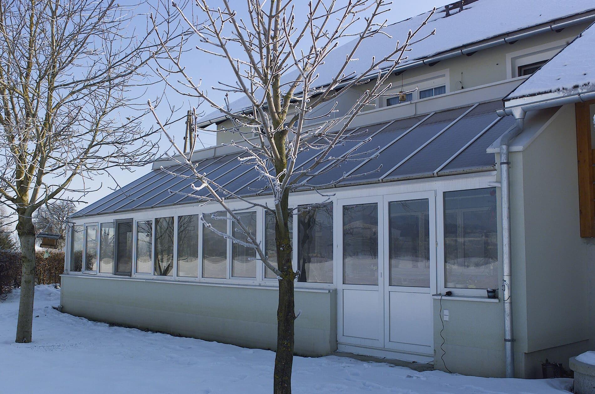 Wintergarten als Frühstücksraum