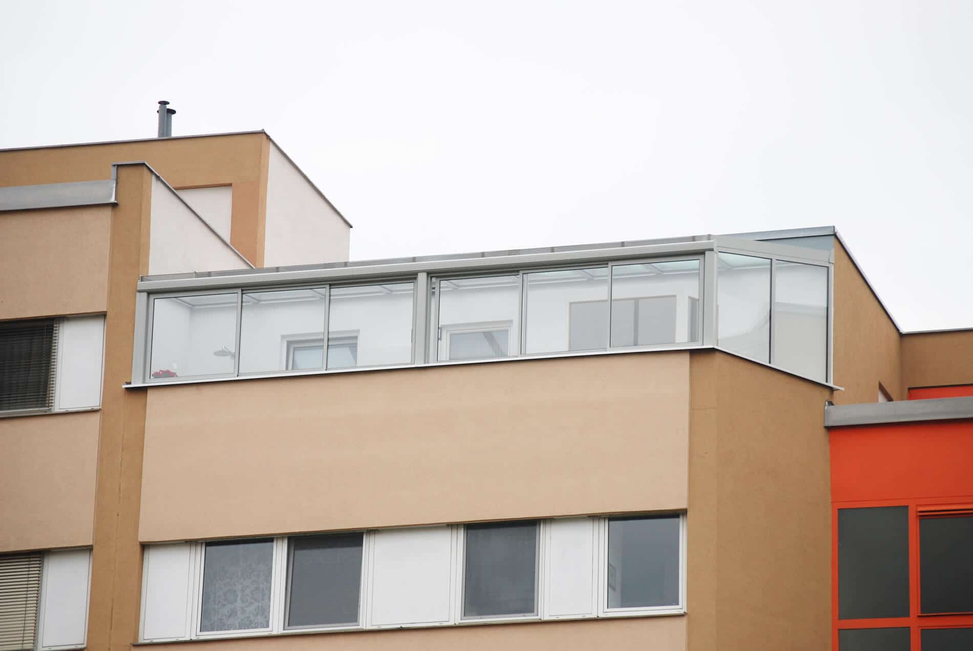 Wintergarten Aluminium Glas Balkon Terrasse