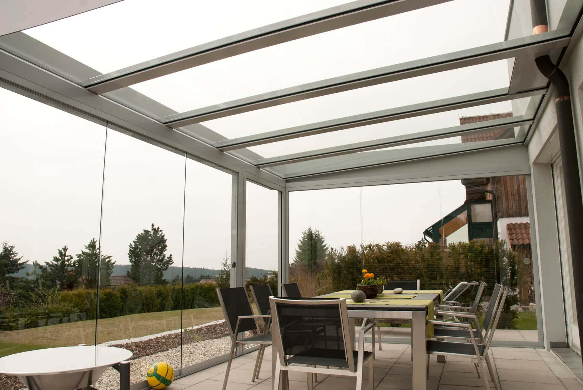 Wintergarten Aluminium und Glas