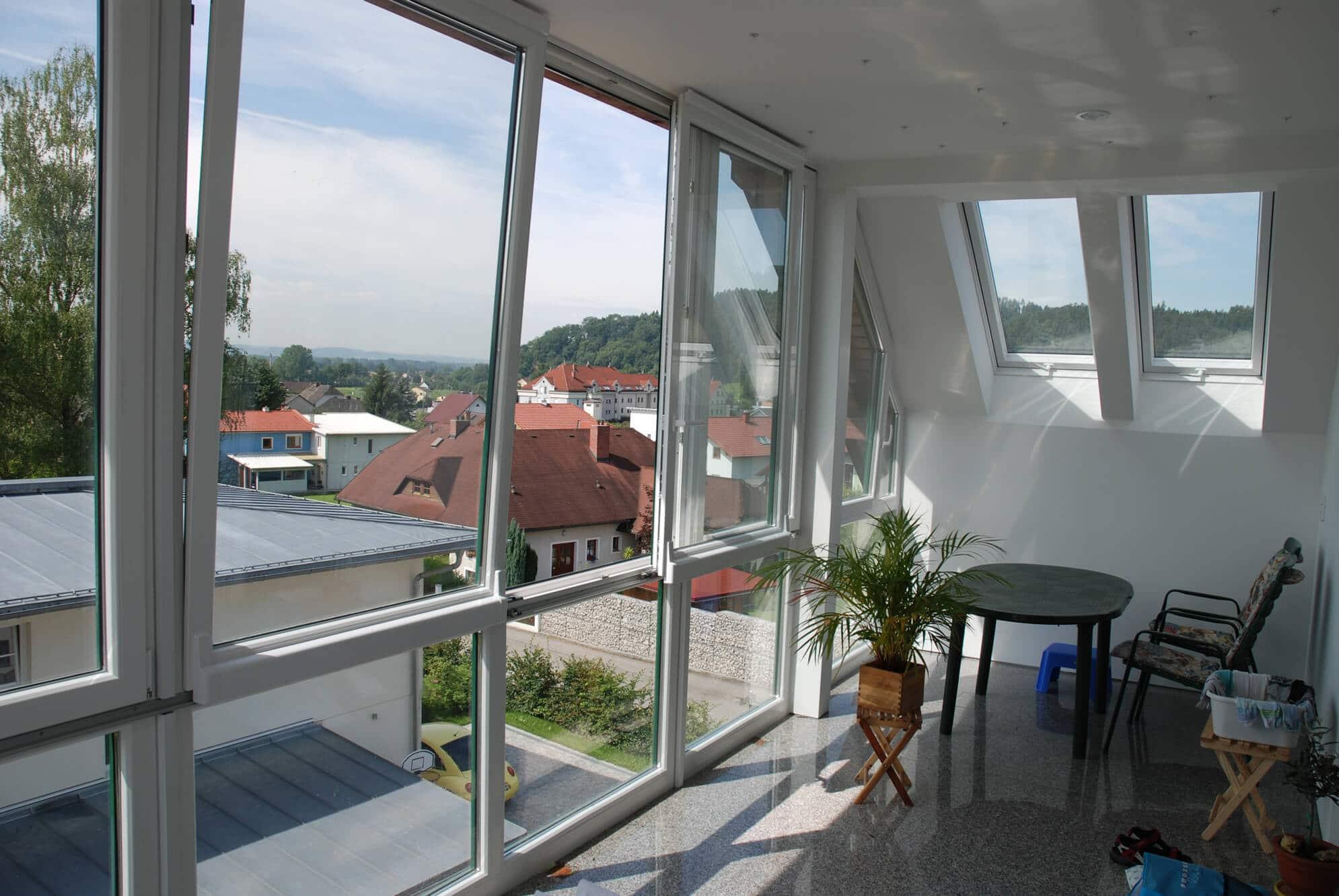 Wintergarten-Anbau für Balkone