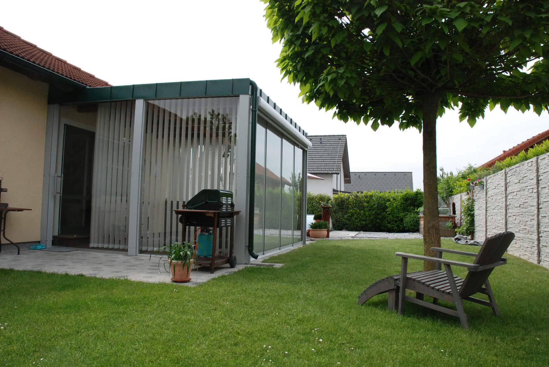 Wintergarten Anbau ohne Glasdach