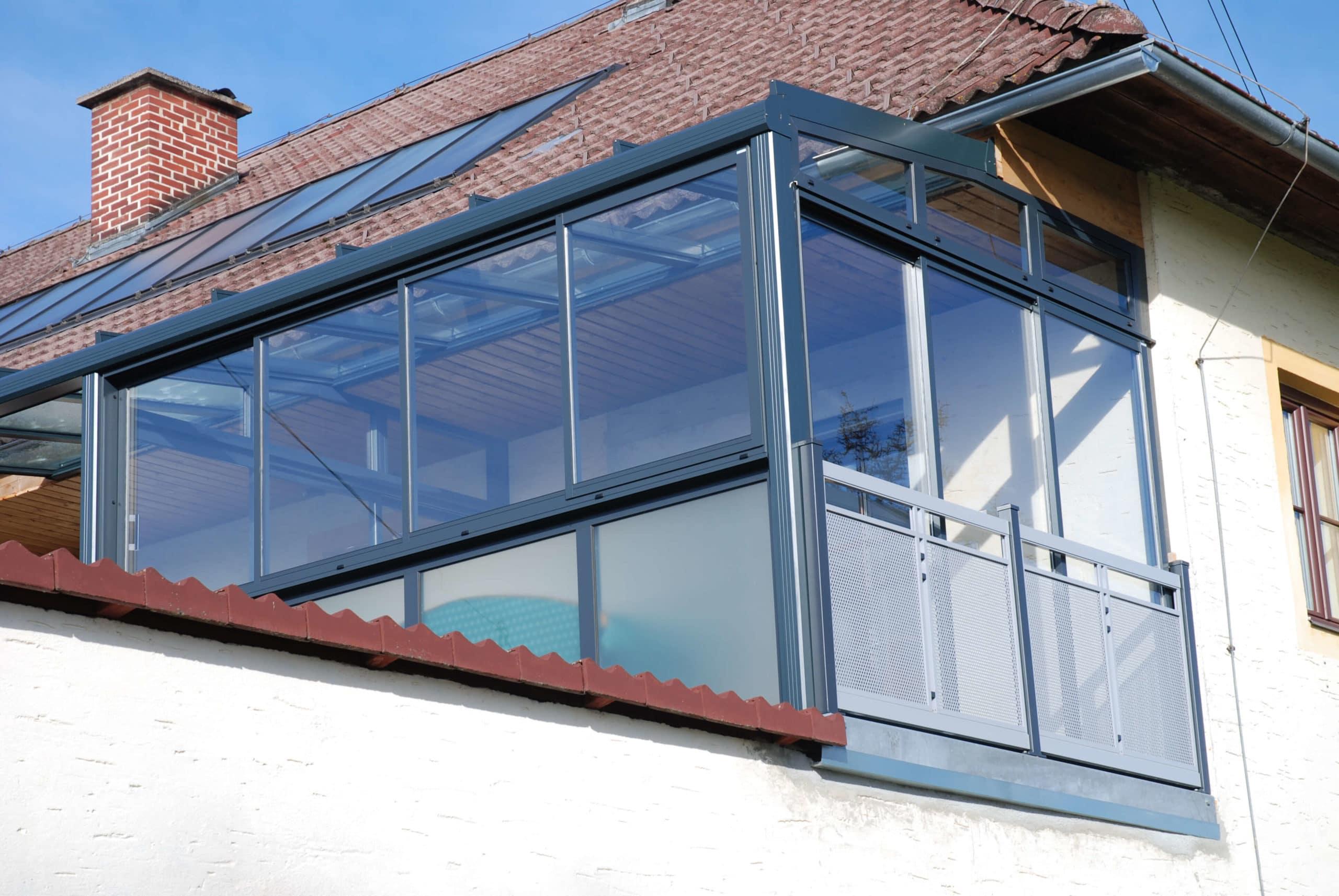Wintergarten Balkon Anbau