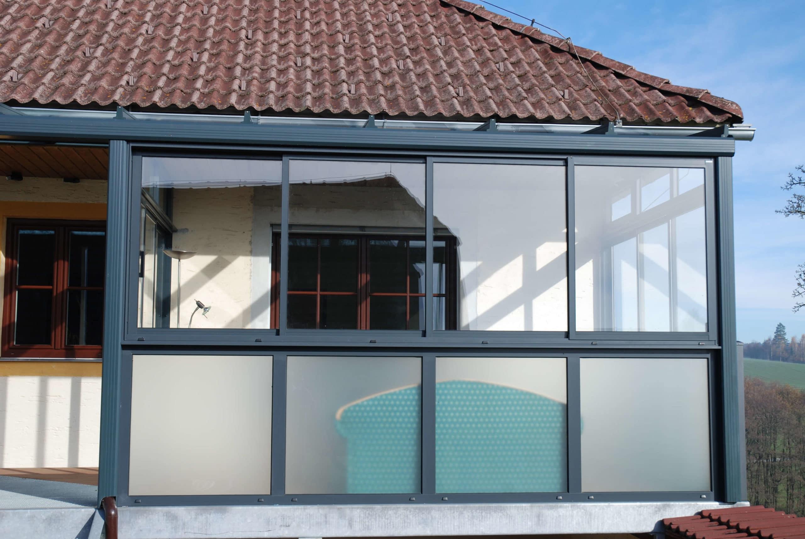 Wintergarten Balkon Gestaltungsmöglichkeiten