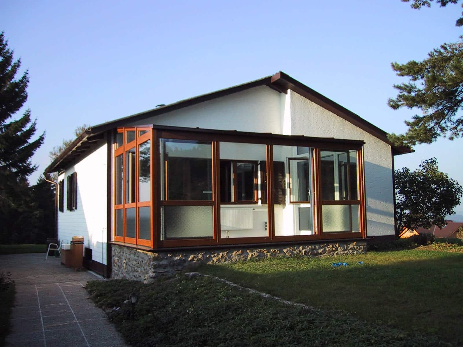 Wintergarten erneuern auf Terrasse - neu errichtet zusätzlich Wohnraum