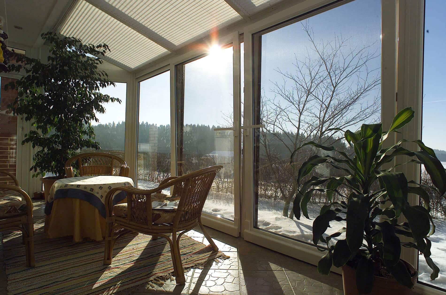 Wintergarten Fertigung für Terrasse
