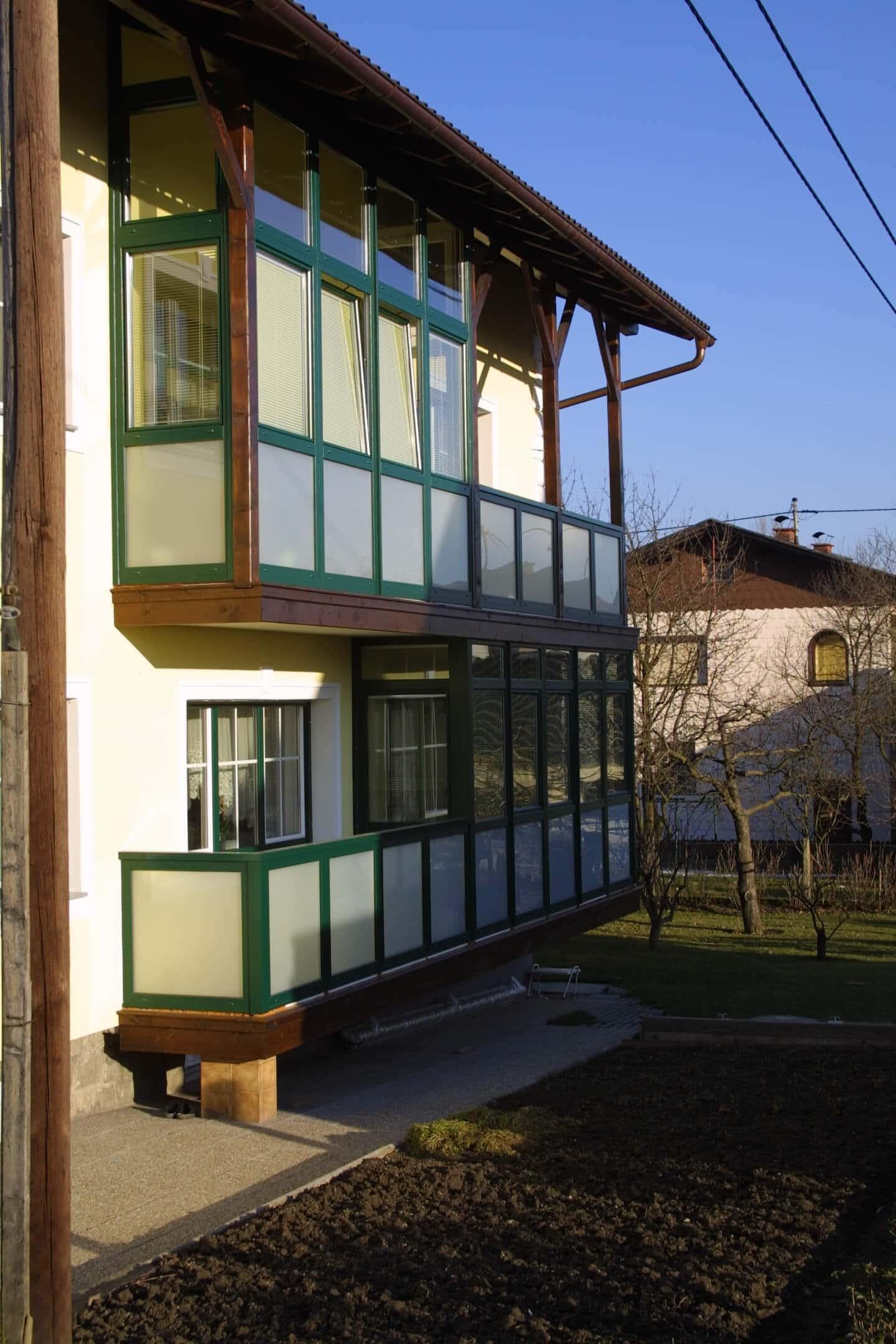 Wintergarten für Balkon - Grün