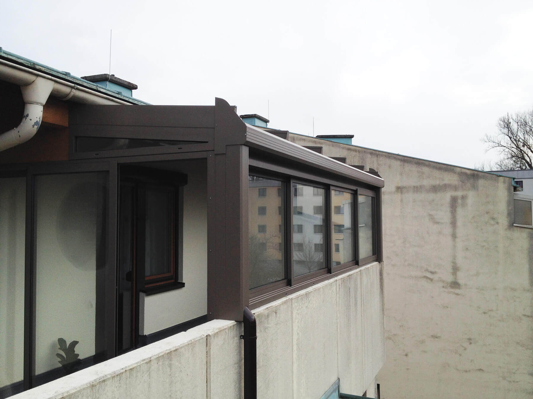 Wintergarten für Balkon Windschutz