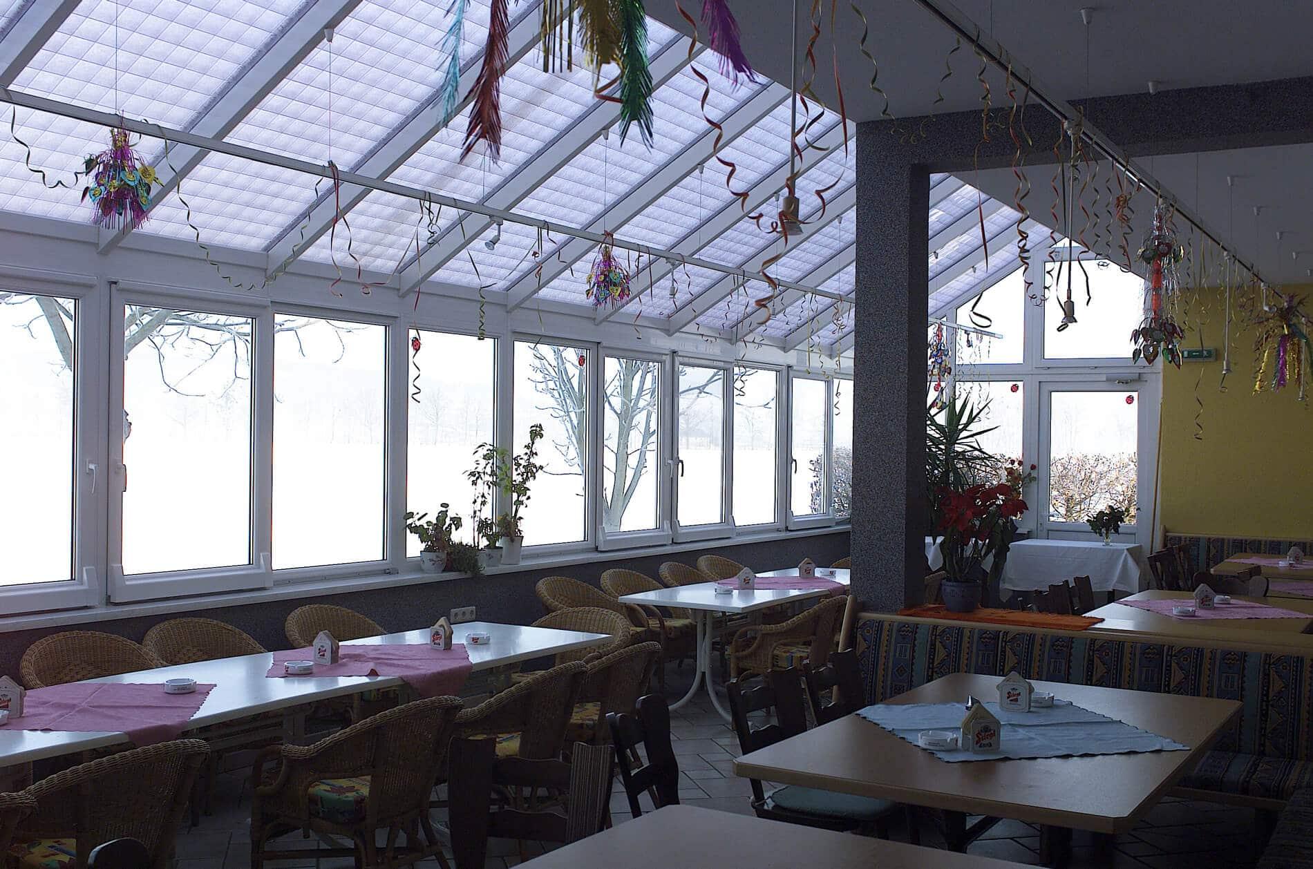 Wintergarten für Gaststätte