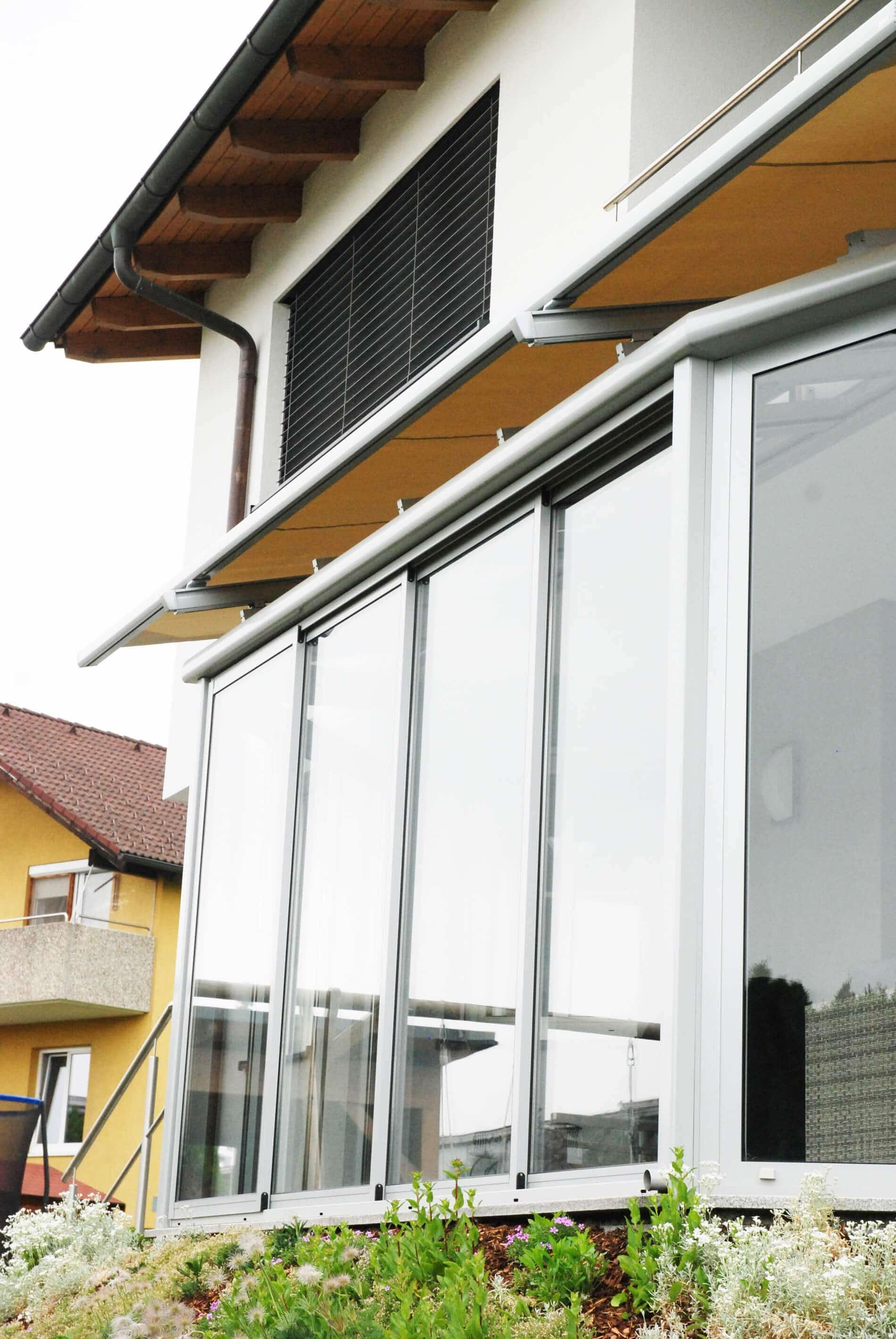 Wintergarten Glasdach mit Sonnenschutz