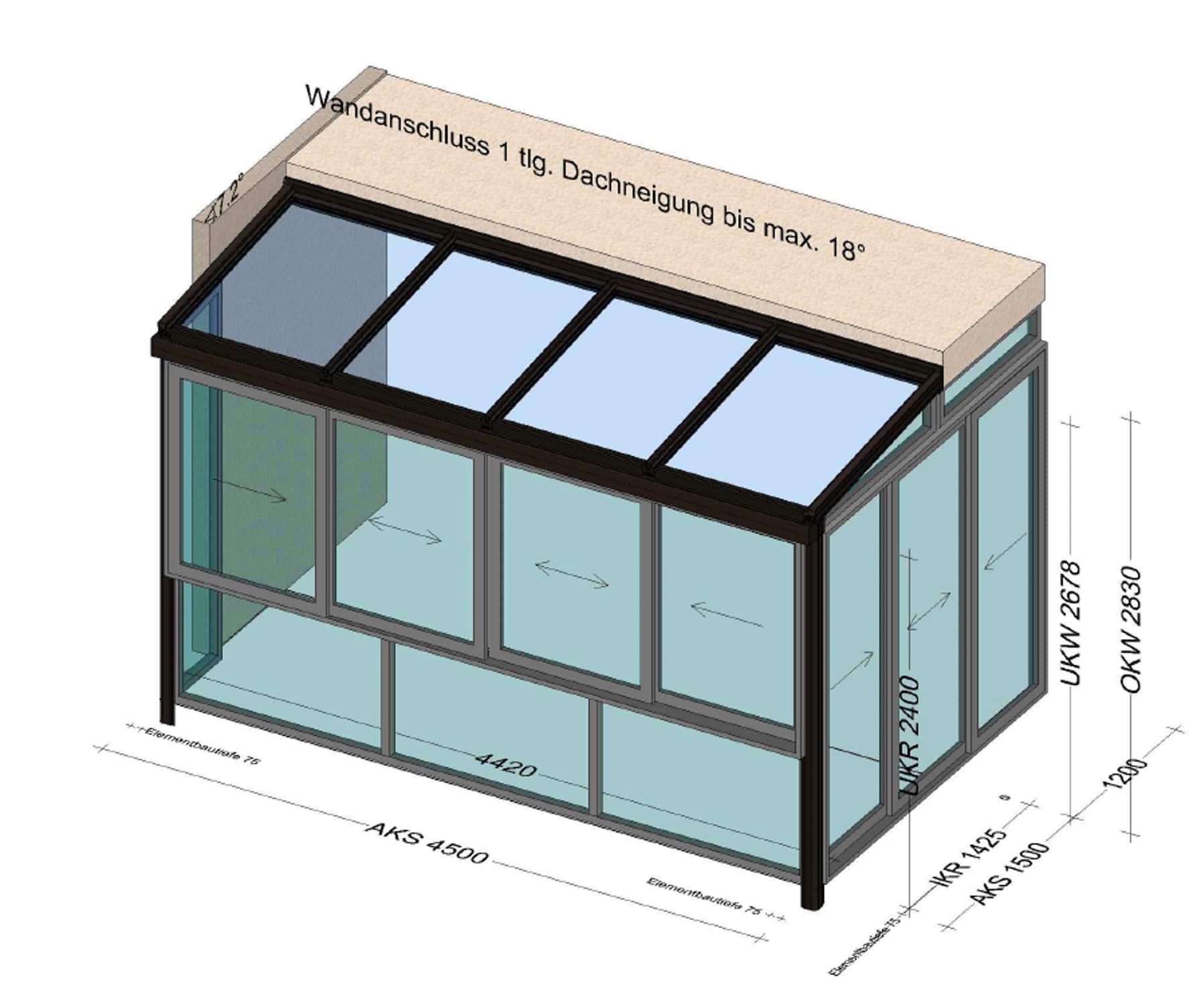 Wintergarten Ideen für Balkon - Planung