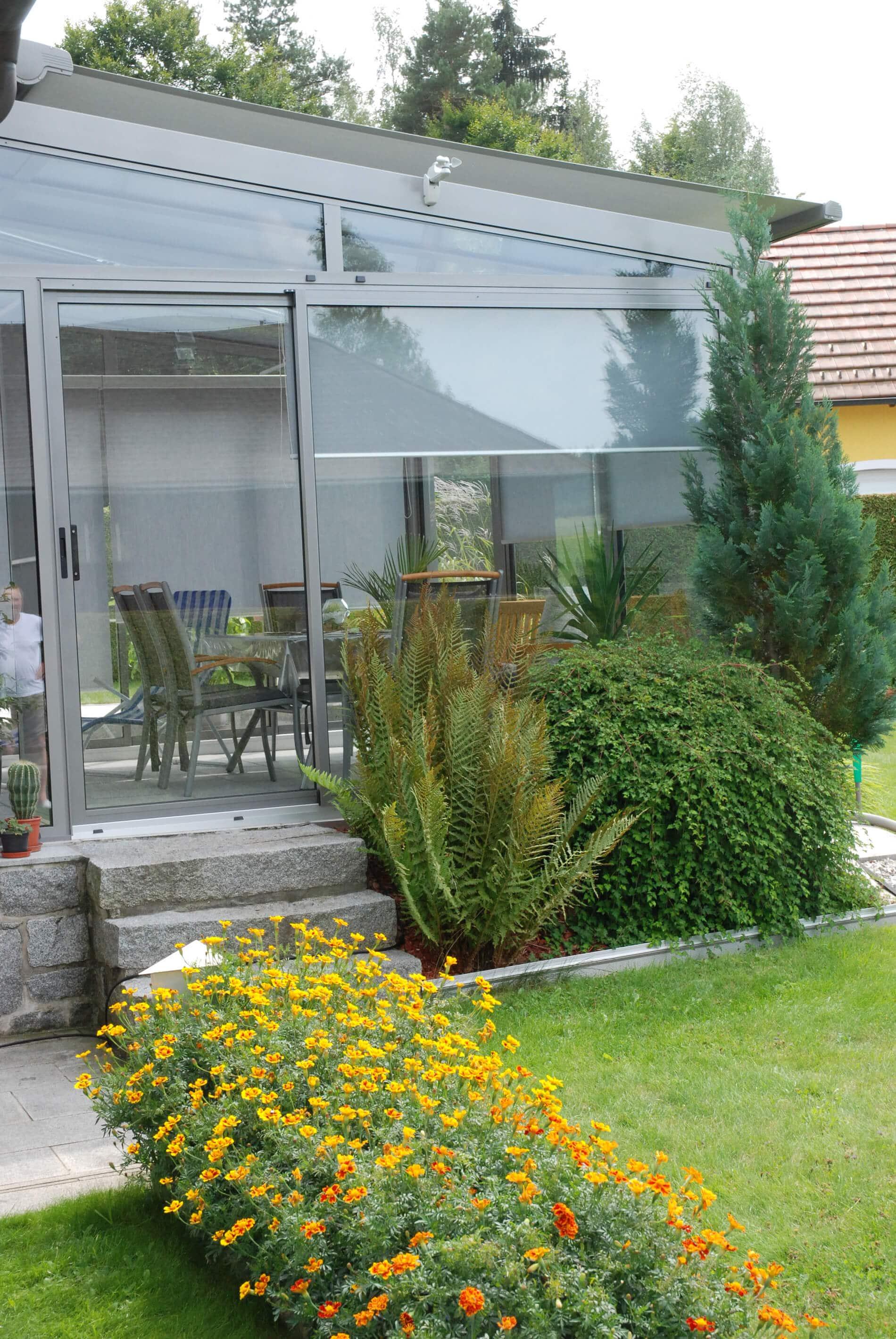 Wintergarten kalt mit Neher Multiraum Schiebetüre