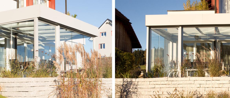 Wintergärten mit Glasschiebetüren Sunflex