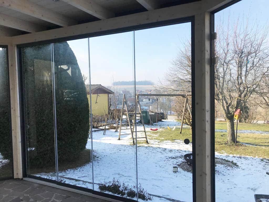 Wintergarten mit Holzdach