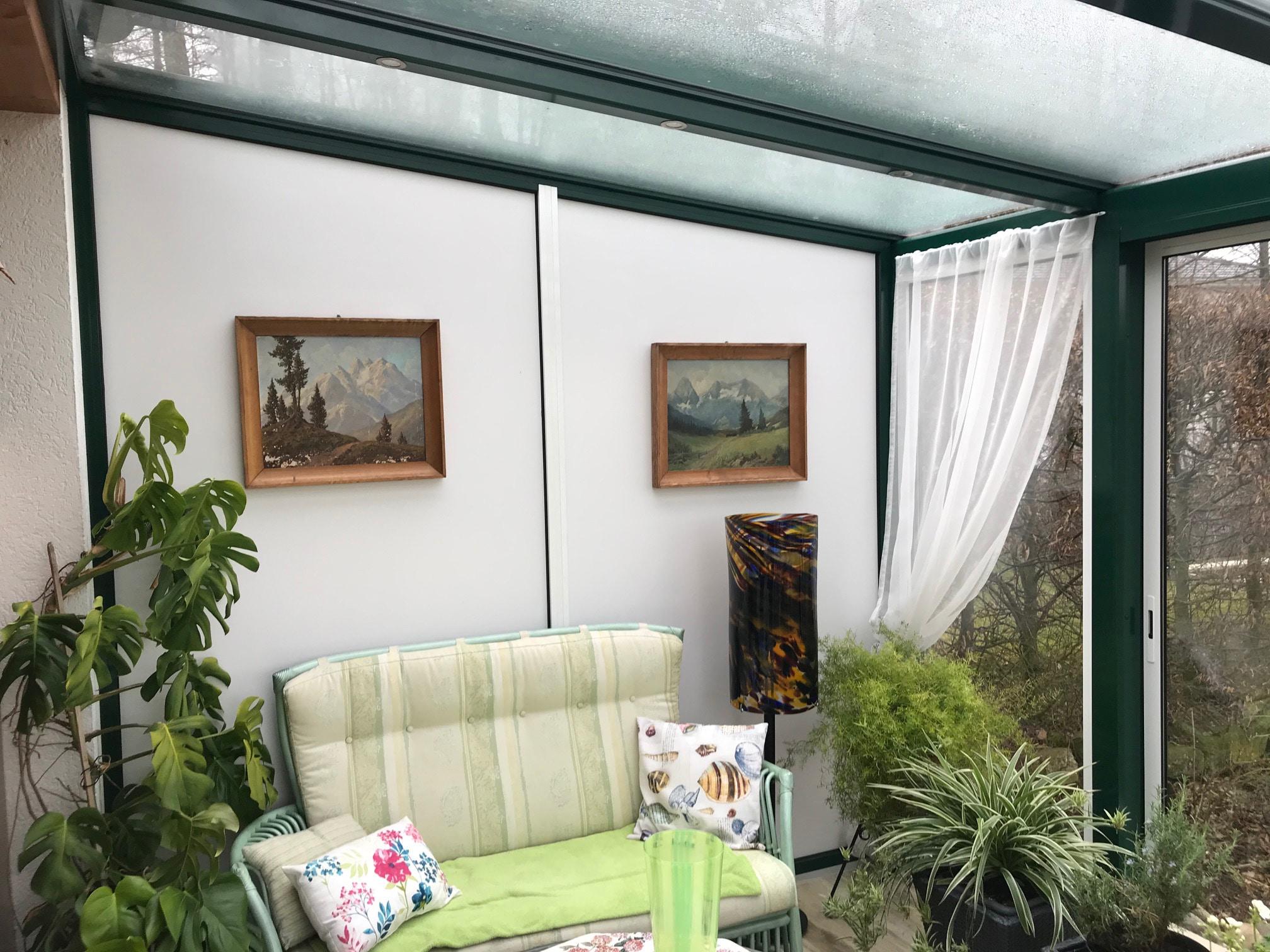 Wintergarten mit integrierter Beleuchtung im Sparren