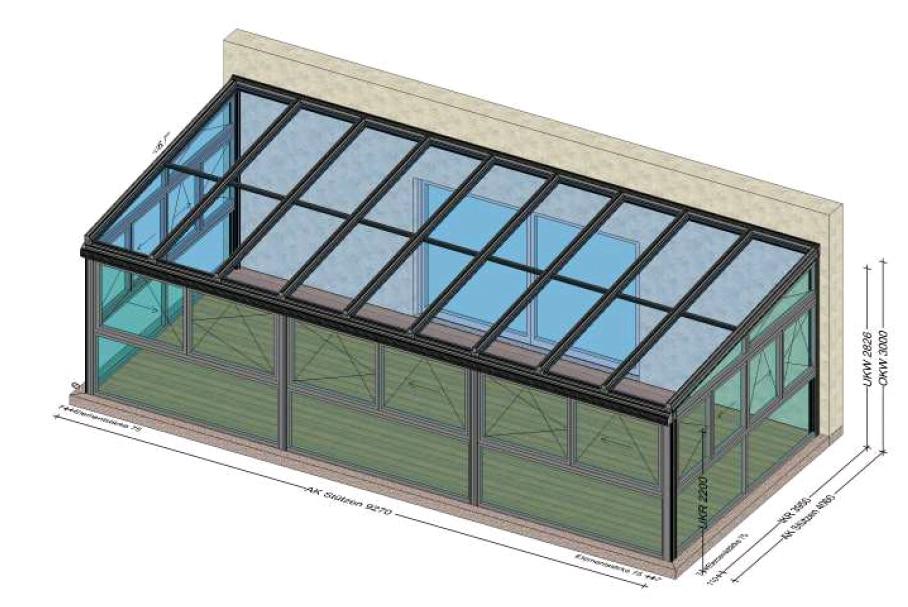 Wintergarten mit PSK-Schiebefenster
