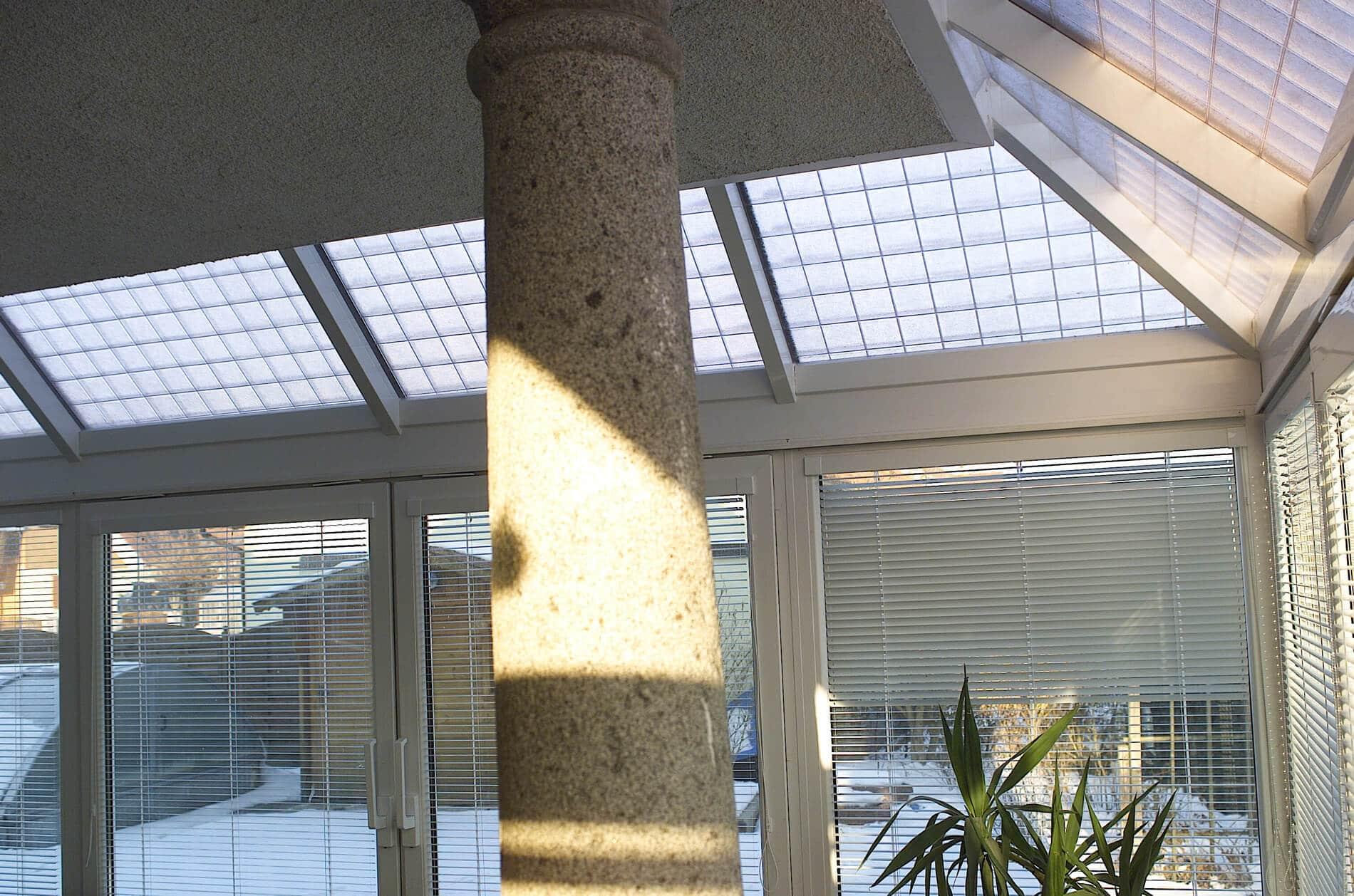 Wintergarten Auf Dem Dach wintergarten mit rasterglas auf dach wintergarten schmidinger