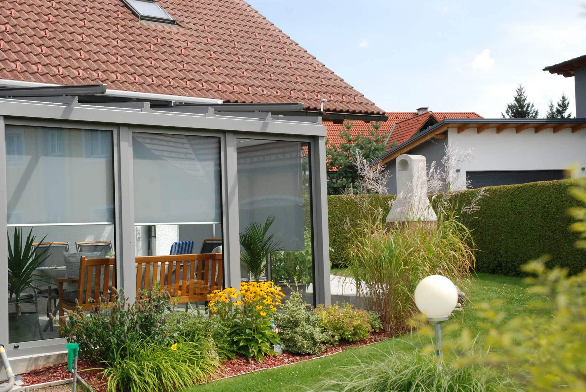 Wintergarten mit thermisch nicht getrennten Profilen