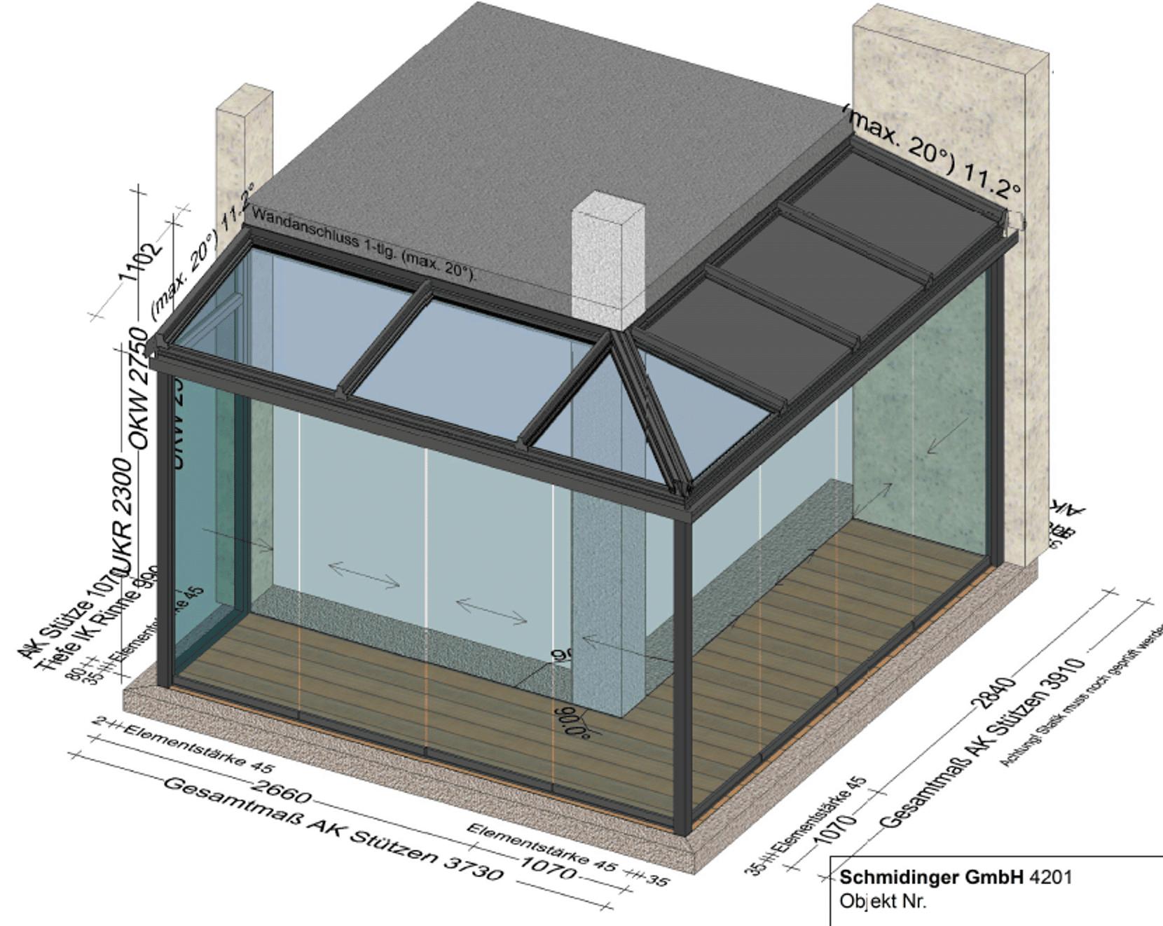 Wintergarten modern - Eckkonstruktion