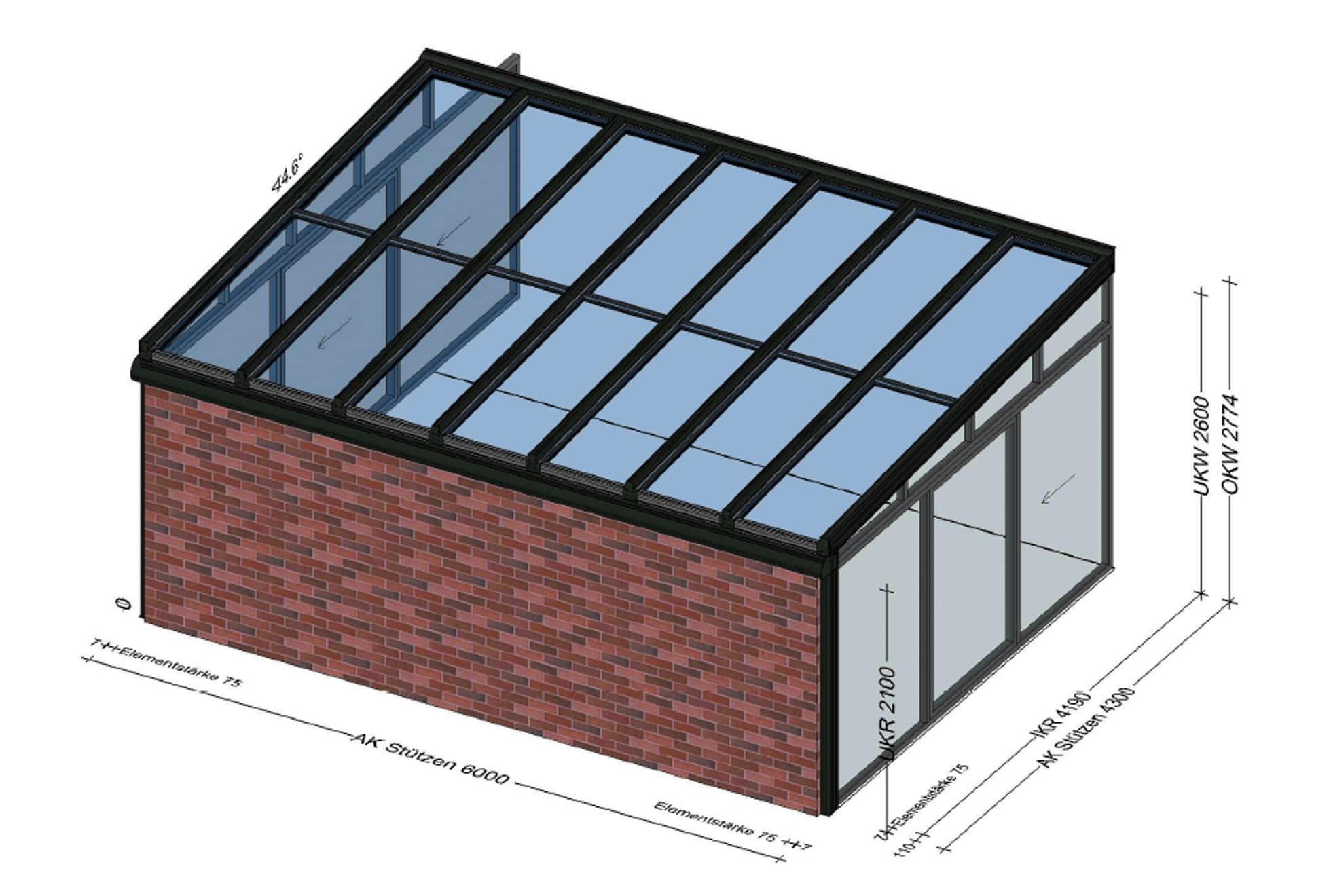 Wintergarten Planung als Poolhaus