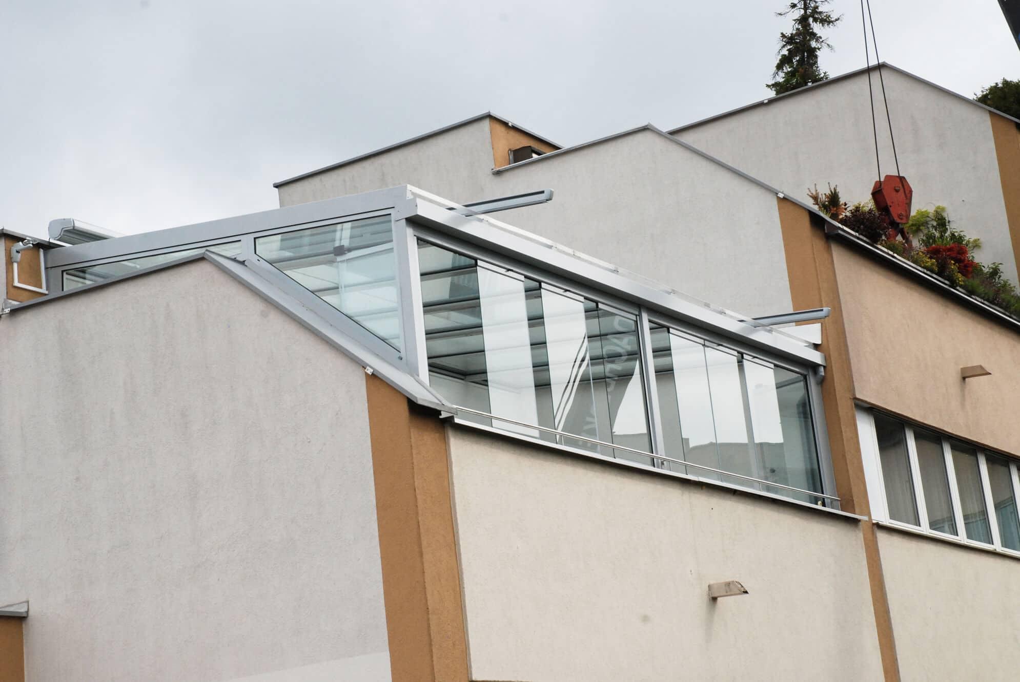 Wintergarten Schiebe-Dreh-Systeme zum Falten