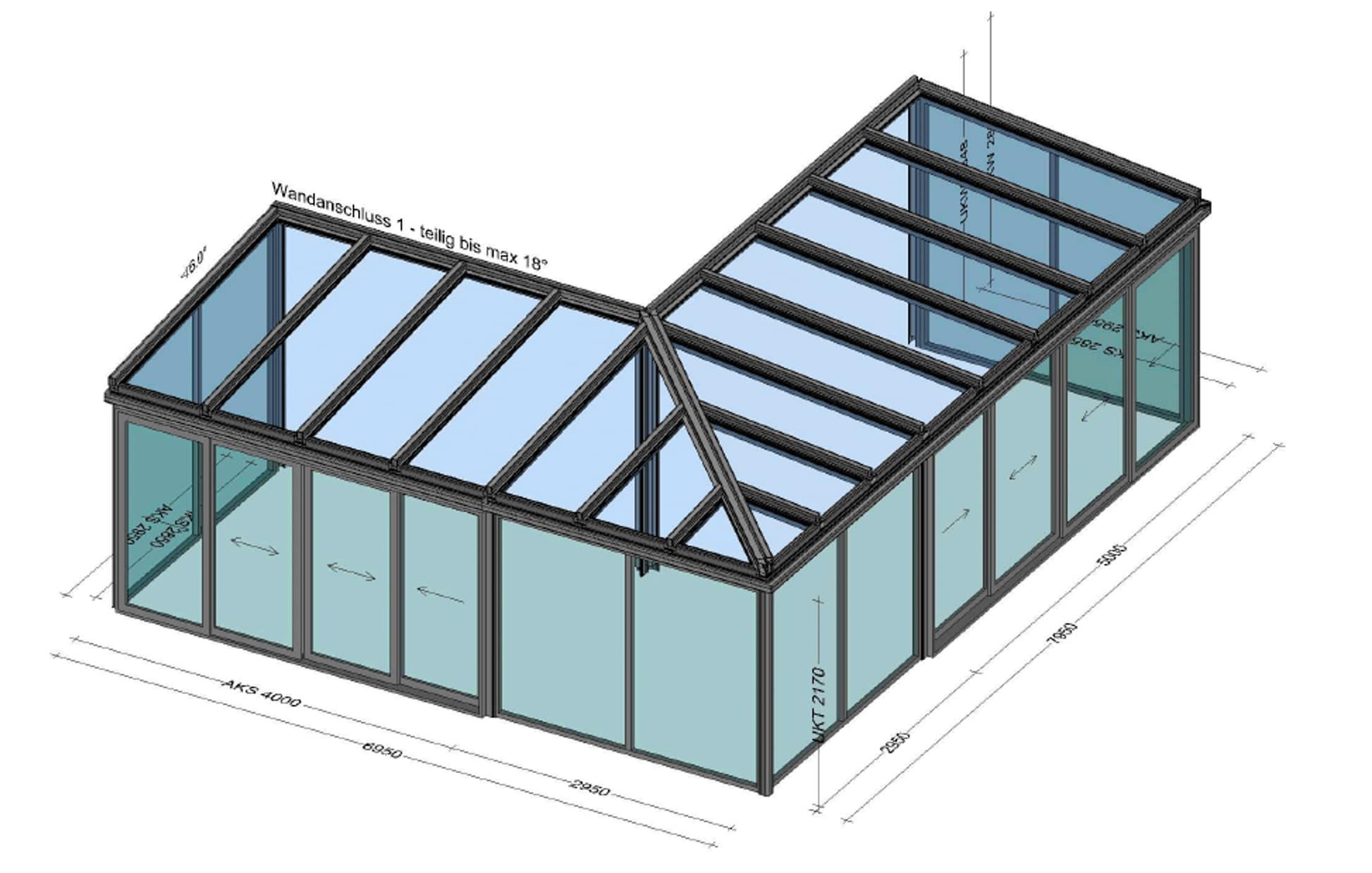 Wintergarten Schiebesysteme aus Alu und Glas