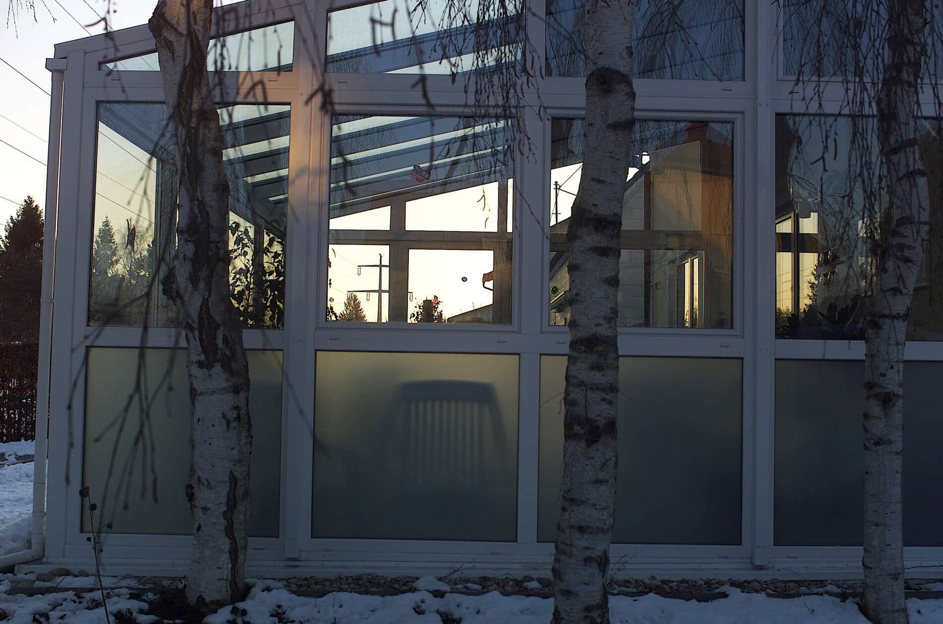 Wintergarten Seitenteil Kunststoff weiß
