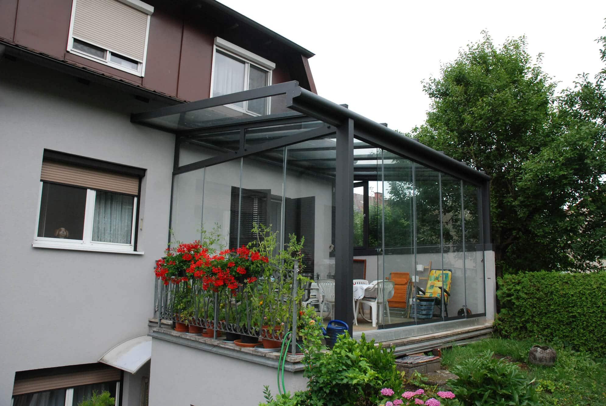 Wintergarten Sommergarten Alu Glas