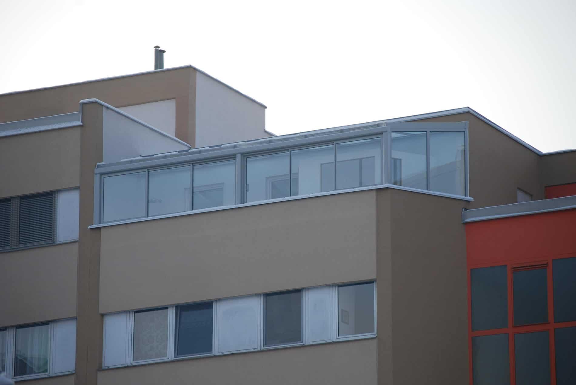 Wintergarten Terrasse Glasschiebewand