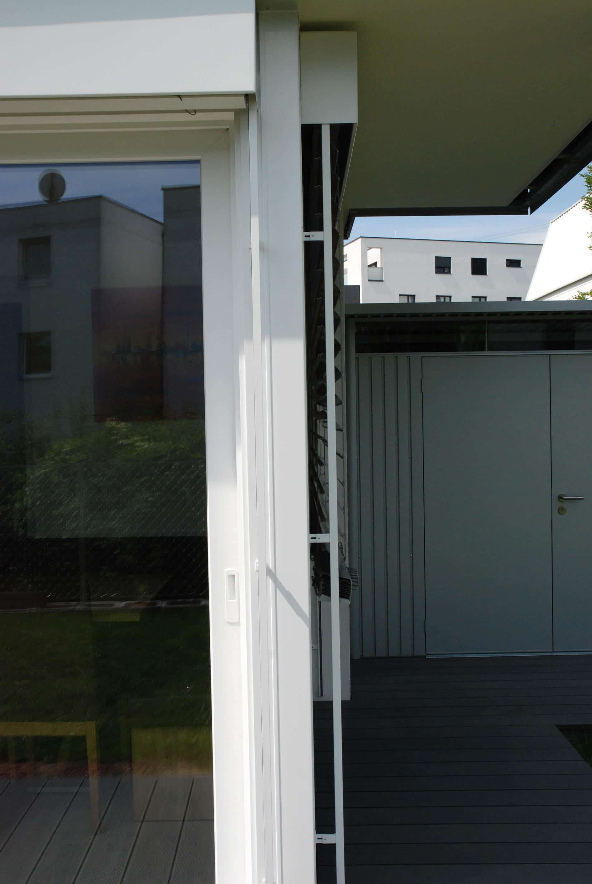 Wintergarten Terrassenfenster weiß
