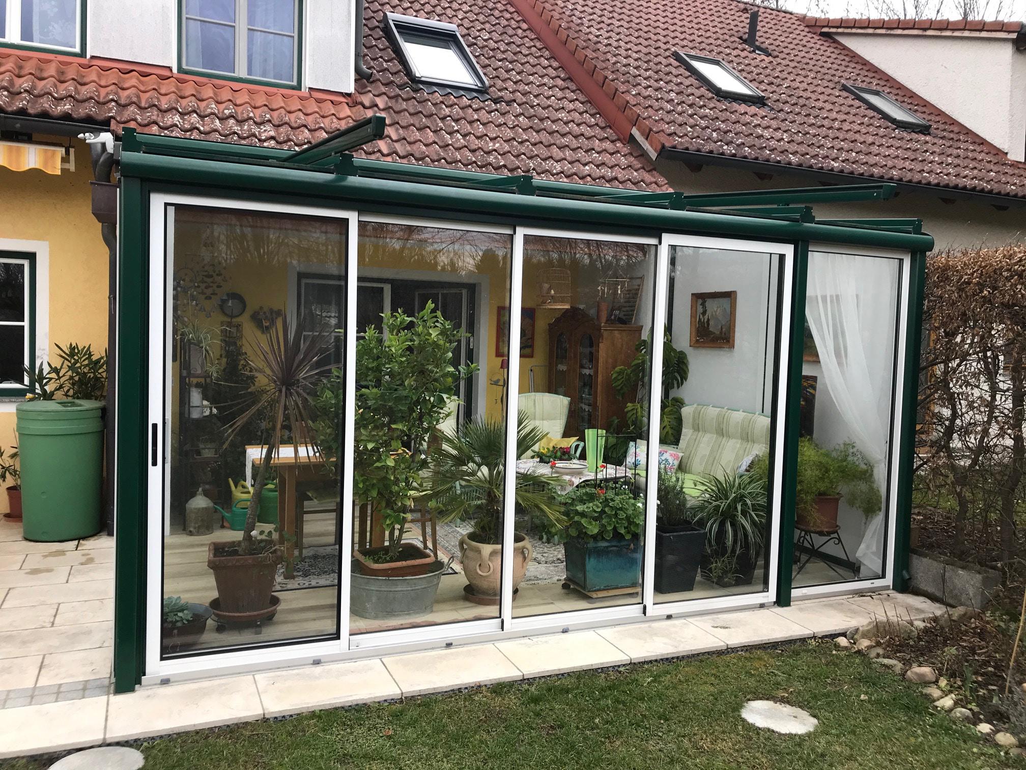 Wintergarten thermisch nicht getrennt mit Iso-Glas
