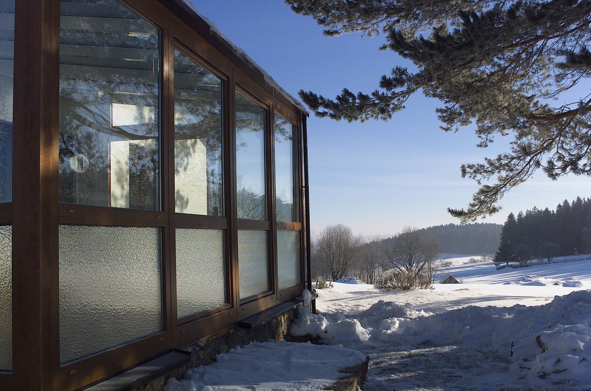 Wintergarten Verglasung mit Rahmen