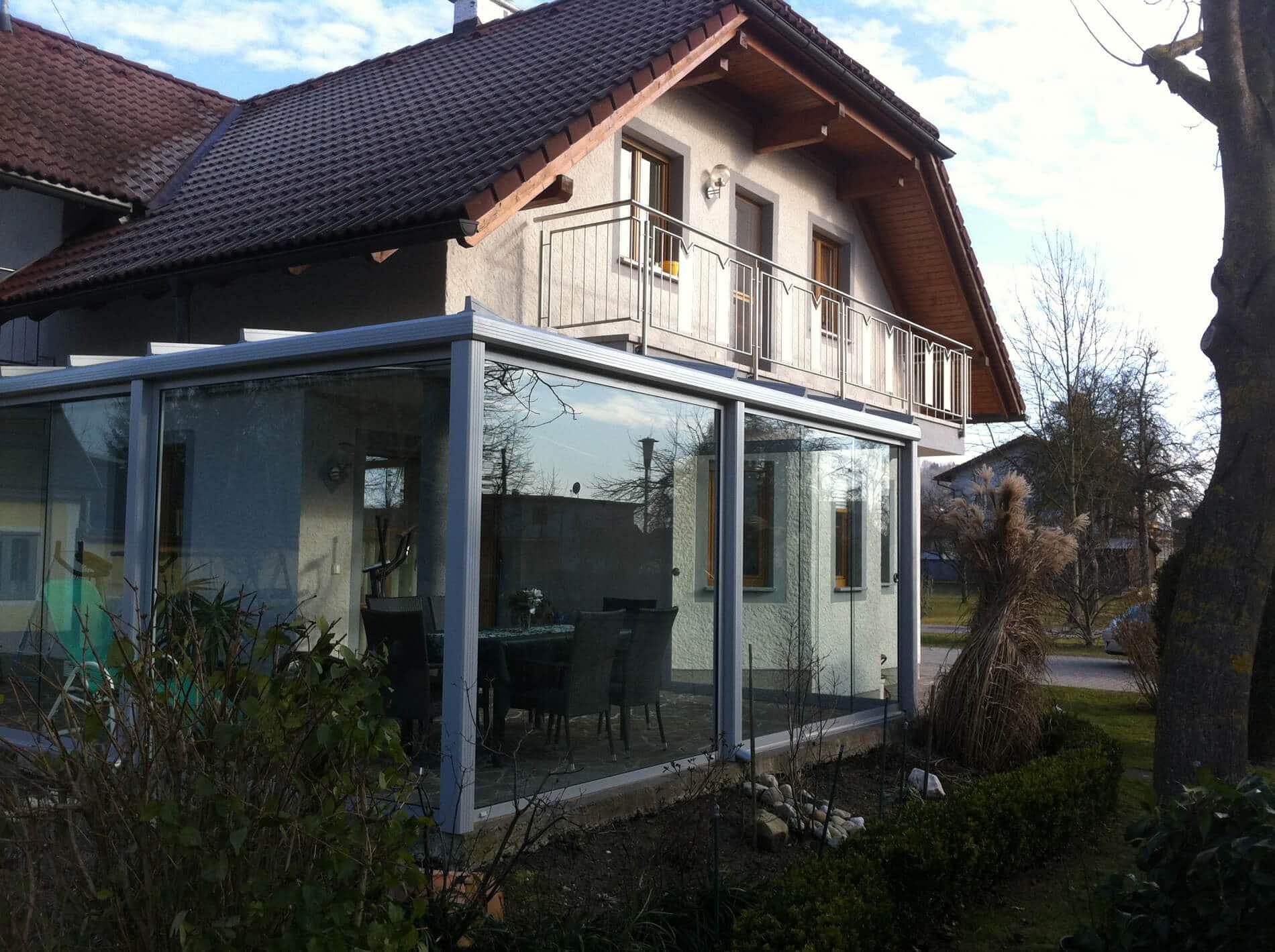 Wintergarten Verglasung ohne Rahmen
