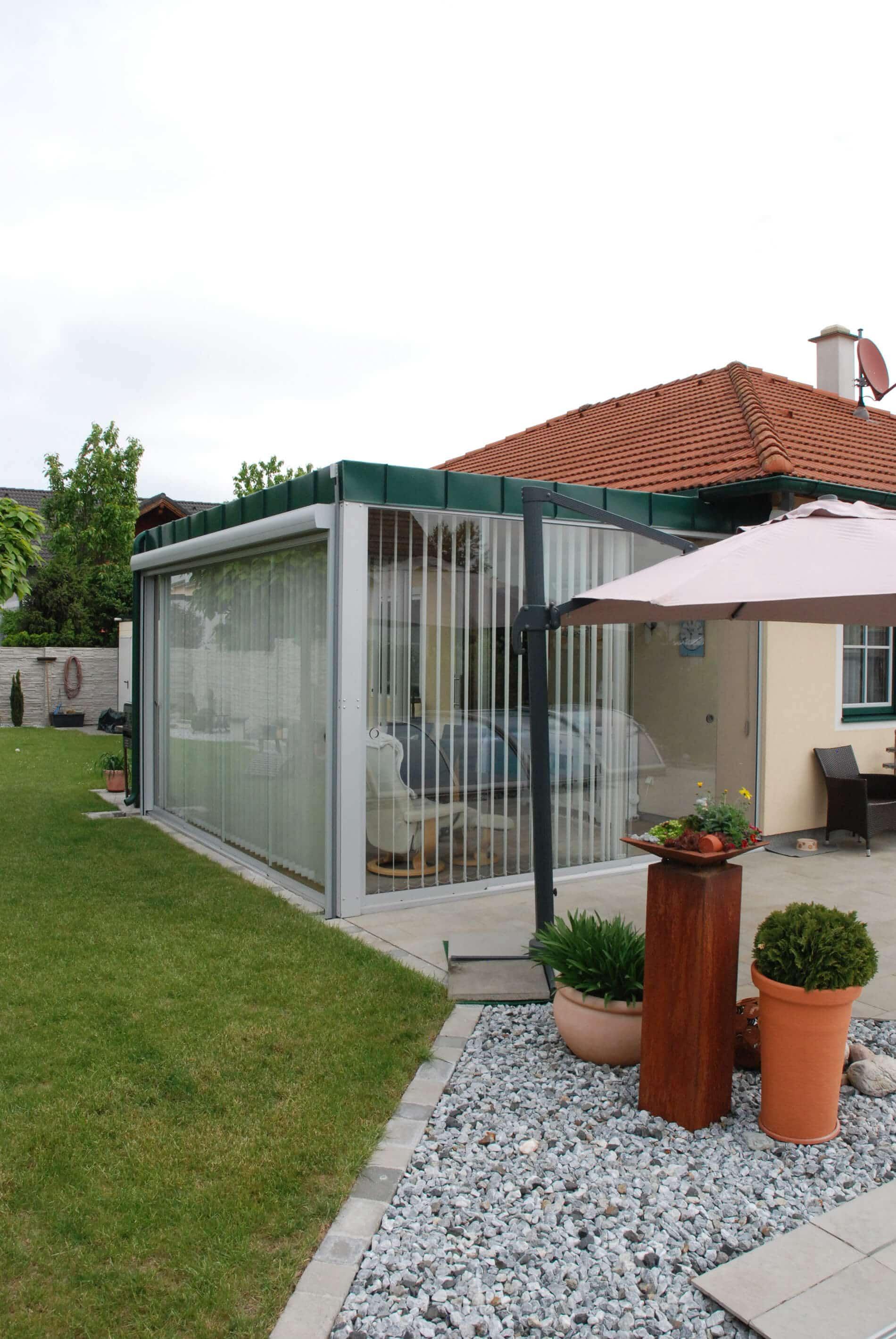 Wintergarten Verglasung Schiebesystem