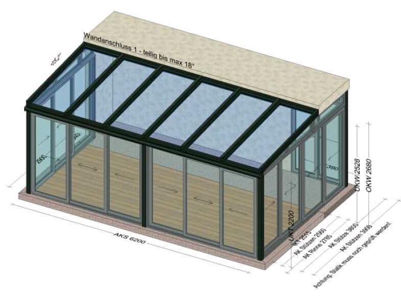 Wintergarten Wohnraum Aluminium Glas