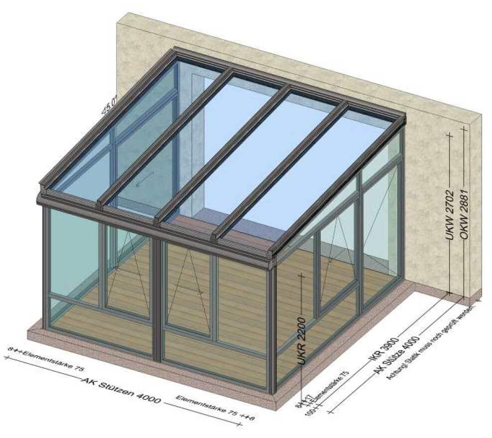 Wintergarten Wohnraumerweiterung
