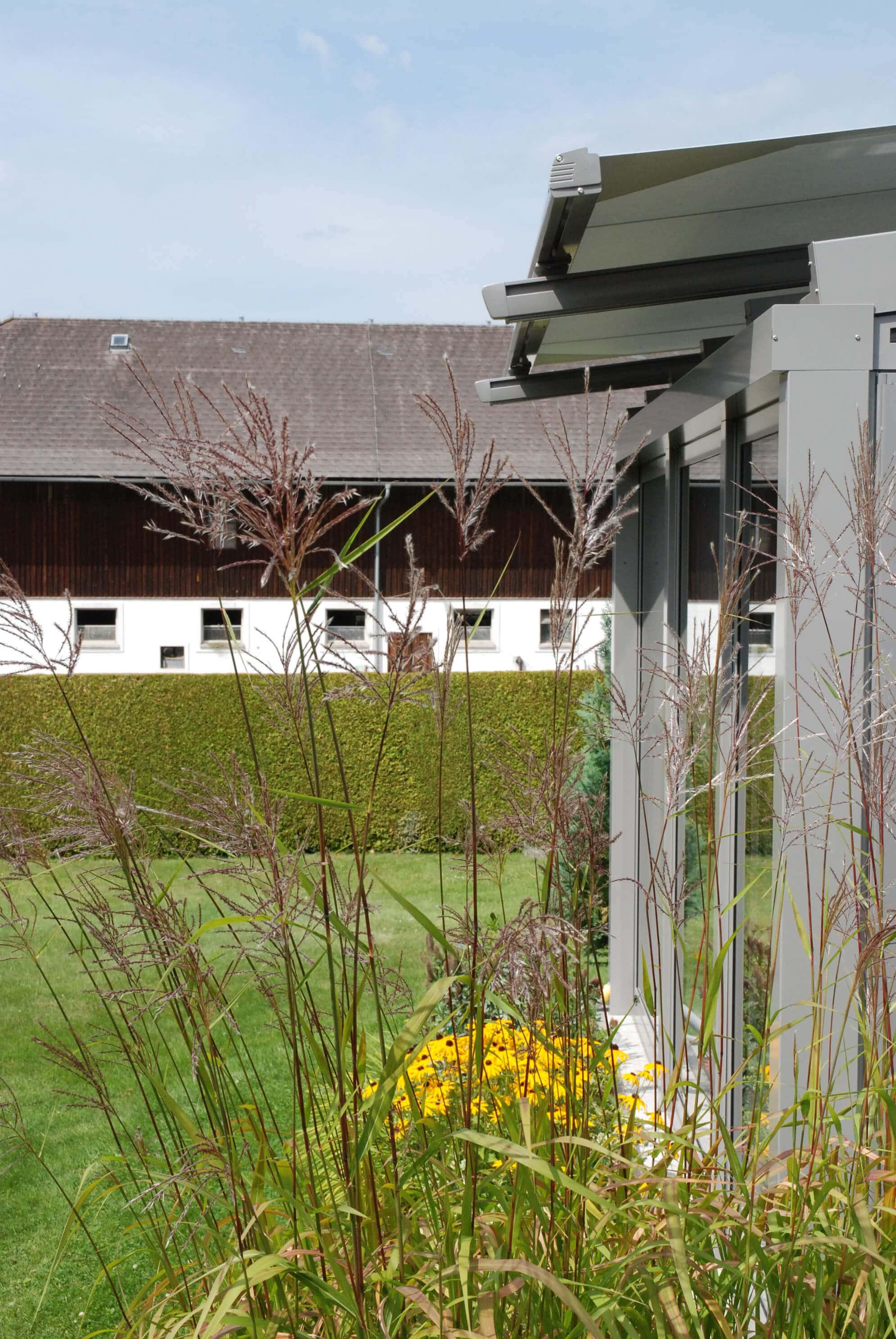 Wintergartenbeschattung außen elektrisch