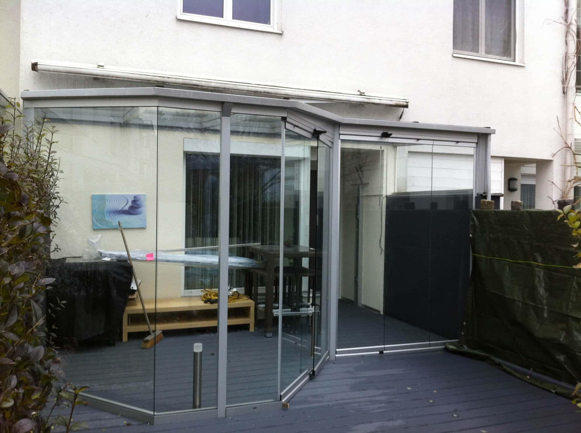 Wintergartenverglasung mit Glasdach