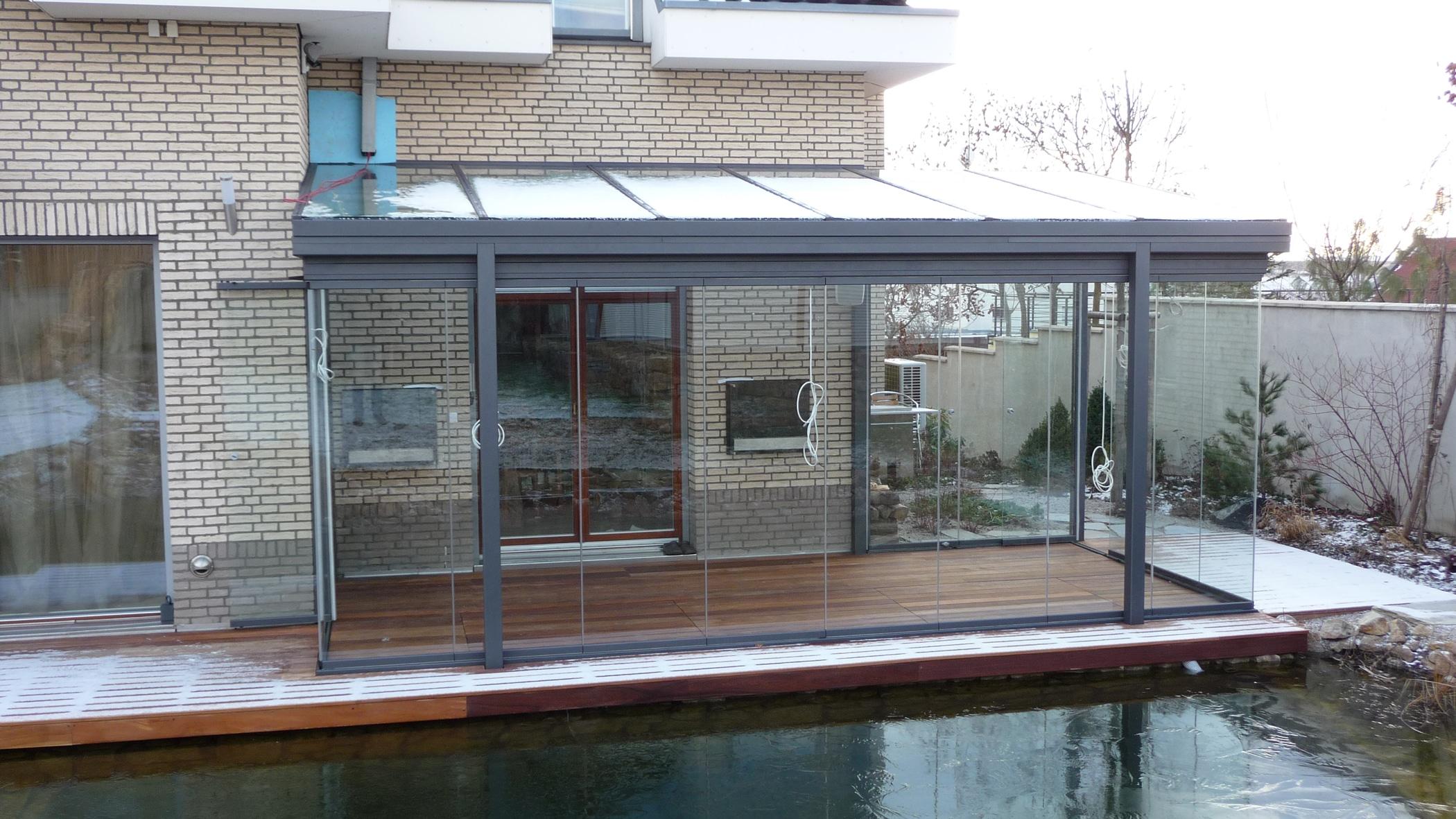 Wintergartenverglasung Sunflex Schiebe-Dreh-Systeme